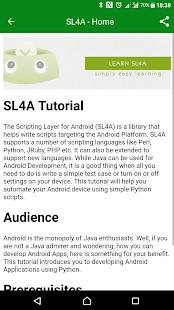 Learn SL4A - náhled