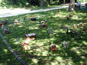Photo: The Layout - 1 Large Loop+3 Sidings, 1 large Dog Bone, 1 Large Oval, 1 Tresel & 2 Small Loops and Thomas & Percy