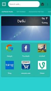 INDIAnet browser - náhled