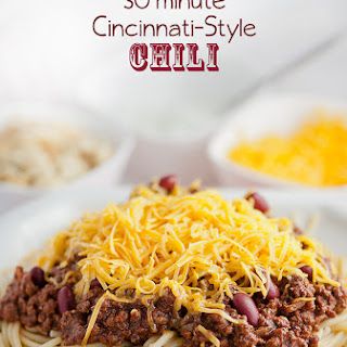 30 minute Cincinnati Style Chili