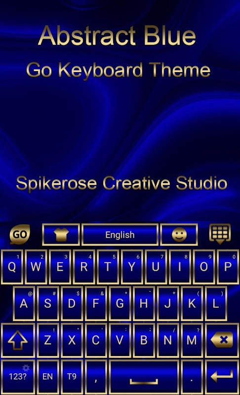 Download Abstract Blue Go Keyboard theme APK 1 1 by spikerose - Free