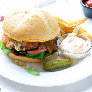 Bison Burger With Blue Cheese
