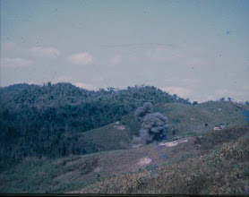 Photo: Picture of incoming artillery of LZ Peanuts.  Aspect unknown.