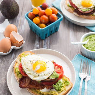 Bacon Avocado Caprese Breakfast Sandwich