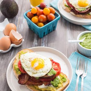 Bacon Avocado Caprese Breakfast Sandwich.