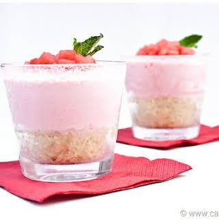 Mini Watermelon Ice Cream Pies.