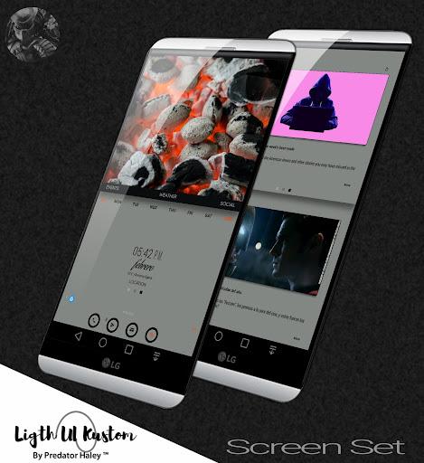 Ligth UI Kustom Pro 1/Klwp screenshot 5