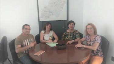 Reunión mantenida entre la alcaldesa, Sonia Guil, y la diputada, Carmen Navarro.