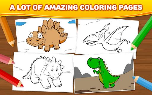 玩免費教育APP|下載恐龙儿童游戏:着色 app不用錢|硬是要APP
