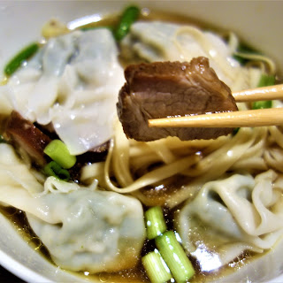 Wonton Noodle Soup.