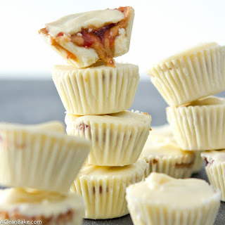 White Chocolate Peanut Butter and Jelly Cups.