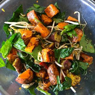 10 minute Roast Veg Salad