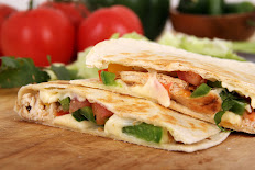 Meat, Cheese and Vegetable Quesadilla