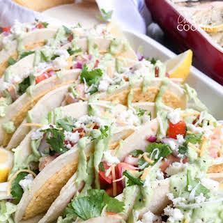 Salmon Tacos.