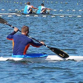 Canoeing - V by Joatan Berbel - Sports & Fitness Watersports ( watersports, movement, sports, canoe, colorfull )