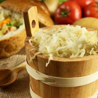 Homemade Sauerkraut.
