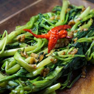 Stir Fried Garlic Water Spinach.