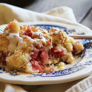 Strawberry Crumb Bars In A Skillet