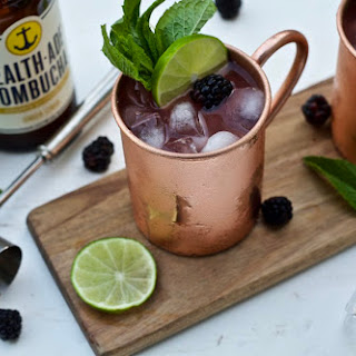 Blackberry Moscow Mule - a Kombucha Cocktail Recipe