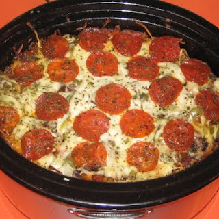 Crock Pot Pizza Pasta.