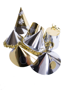 Partyhatt, Glitter silver/guld