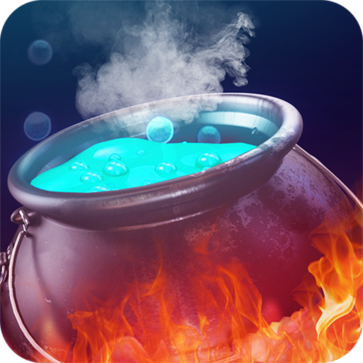 Witch & magic pot