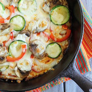 Summer Vegetable Pizza with a Cauliflower Crust Recipe