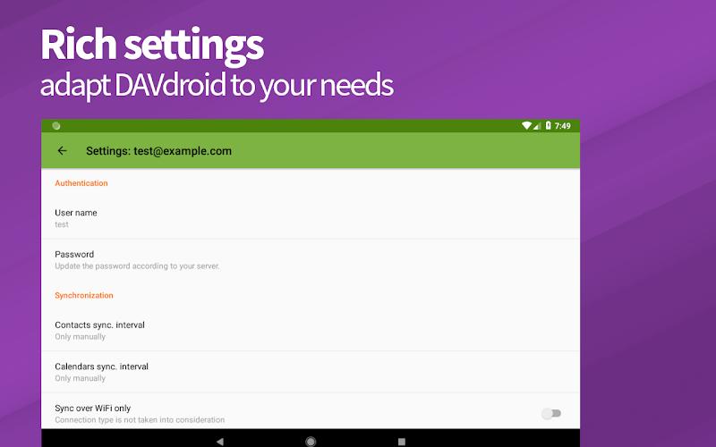 DAVx⁵ – CalDAV/CardDAV Client Screenshot 8