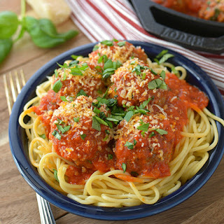 Italian Meatballs with Beef and Pork.