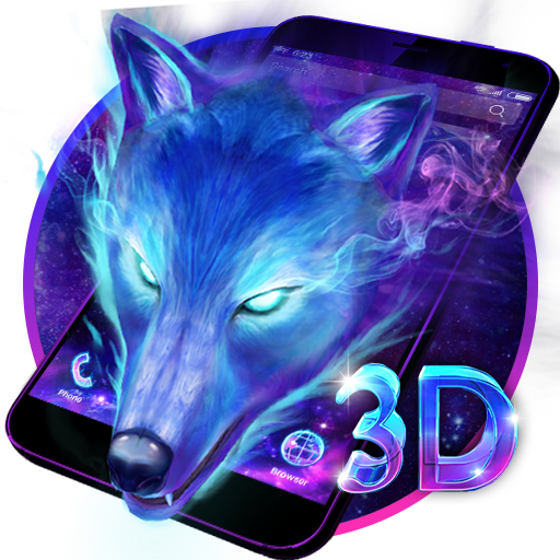 3d Galaxy Wolf Theme Apps On Google Play - pictures of wolves with a galaxy background