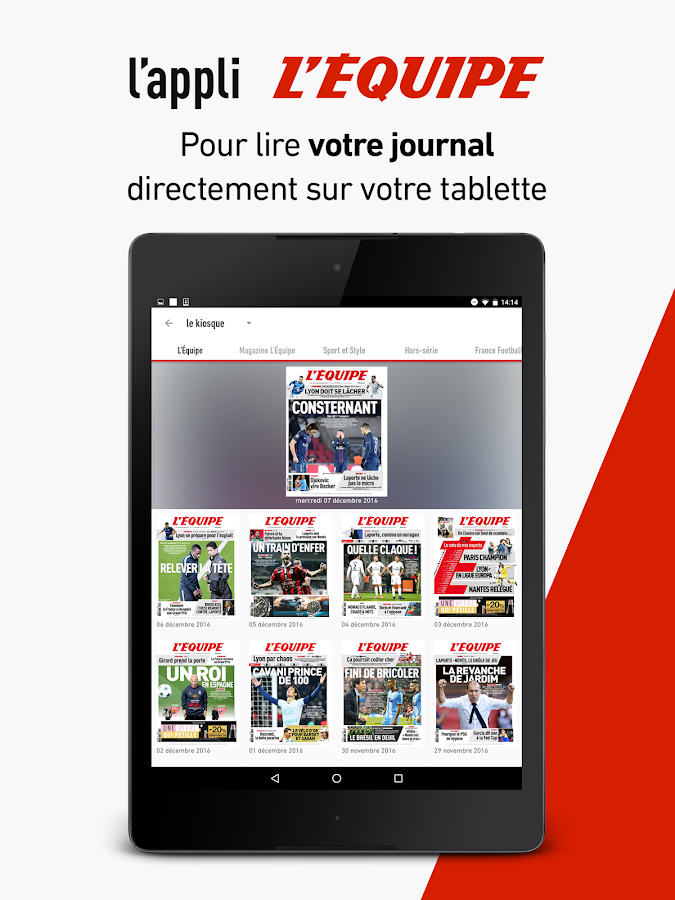 L'Équipe - Sport en direct : foot, tennis, rugby.. – Capture d'écran