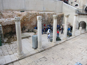 Photo: Cardo Maximus in Jerusalem. Note that due to the tendency of conquerors to knock everything down and rebuild, it is one story below current ground level!