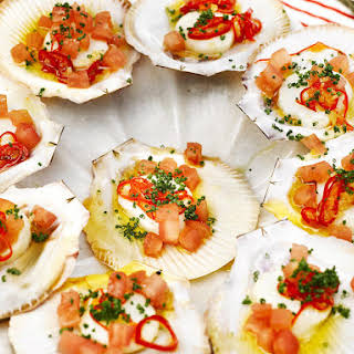 Scallops with Tomatoes and Chili.
