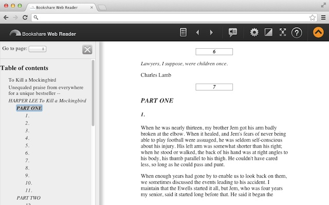 Bookshare Web Reader