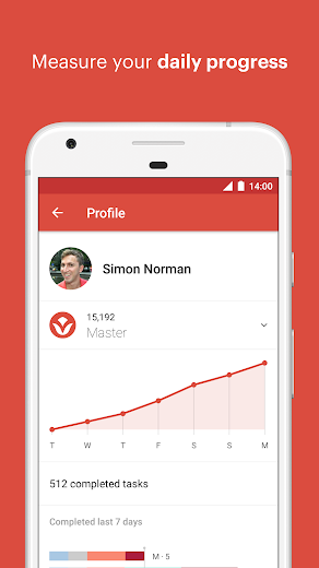 Screenshot 2 for Todoist's Android app'
