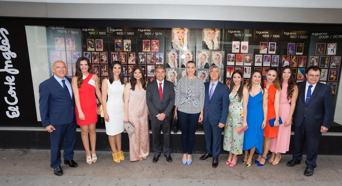 Inauguración escaparate El Corte Inglés - Fogueres 2018