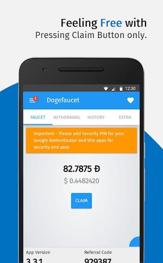 DogeFaucet: Free Dogecoin 4.1.5 screenshots 2