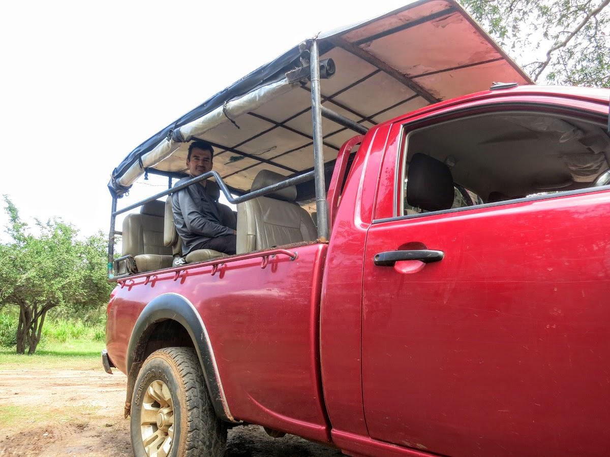 Sri. Lanka Wilpattu National Park . Ready for our wildlife safari