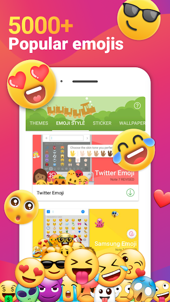 iMore Emoji Keyboard - Cool Font, Gif & 3D Themes Android App Screenshot