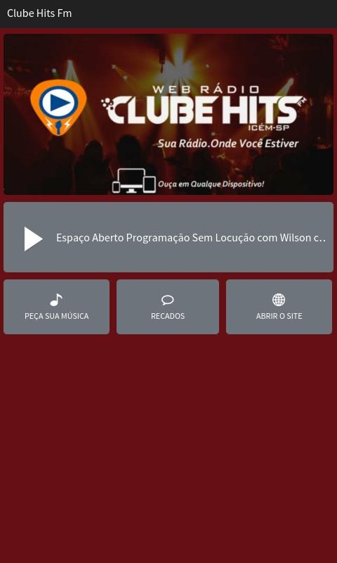 Clube Hits Fm- screenshot