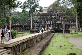 Photo: Year 2 Day 44 -  The Causeway Walking to the Baphuon Temple of Angkor Thom