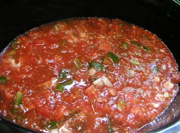 Set crock pot on HIGH.  Cook for 4 hours.  Add shrimp the...