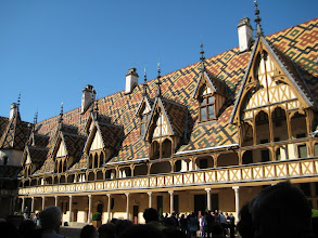 Photo: The Hospice at Beaune.  The fancy stuff was on the inside court and it was plain outside to deceive the tax collector.