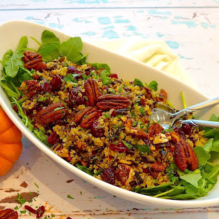 Cranberry Wild Rice Salad (Gluten Free and Vegan)