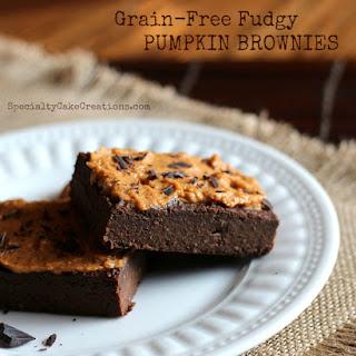 Grain-Free Fudgy Pumpkin Brownies