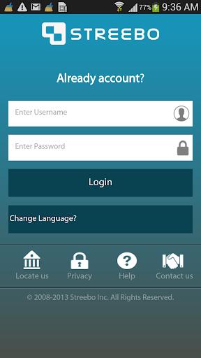 Streebo Mobile Banking App