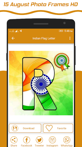 Indian Flag Latter Wallpaper , Flag Photo Frame screenshot 1