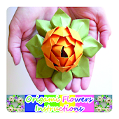 Origami Flowers Instruction