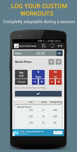 Gym Exercises 2.1 screenshots 1