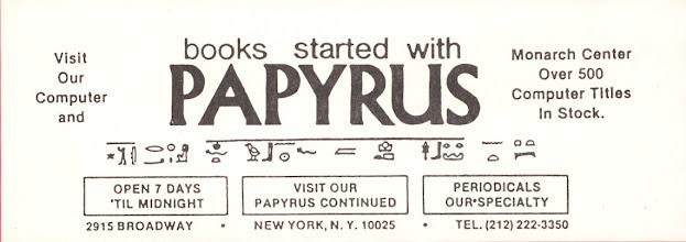 Photo: Papyrus